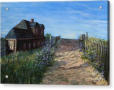 Love The Old Cottage Acrylic Print by Rita Brown