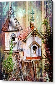 Love Thy Neighbor - Birdhouses Acrylic Print