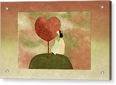Love Tree Acrylic Print by Variance Collections