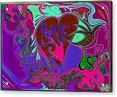 Love Triumphant 3of3 V2 Acrylic Print by Kenneth James