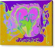 Love Triumphant V3 Acrylic Print by Kenneth James