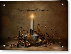Love Warmth Home Acrylic Print
