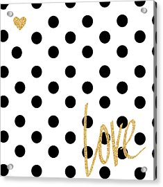 Love With Dots Acrylic Print by South Social Studio