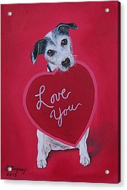 Love You Acrylic Print