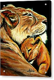 Loved Acrylic Print by Adele Moscaritolo