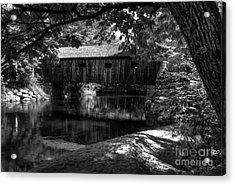 Lovejoy Covered Bridge 2bw Acrylic Print by Mel Steinhauer