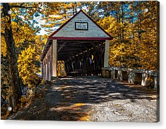 Lovejoy Covered Bridge Acrylic Print by Bob Orsillo