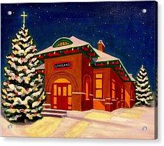 Loveland Depot At Christmas Acrylic Print