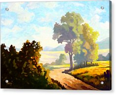 Acrylic Print featuring the painting Lovely Day by Anthony Mwangi