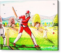 Lovely Day For Cricket. Acrylic Print by Roejae Baptiste
