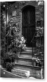 Lovely Entrance In Black And White Acrylic Print by Prints of Italy