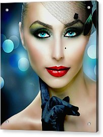 Lovely Lady 1 Acrylic Print by Karen Showell