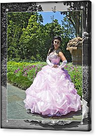 Lovely Lady At The Dallas Arboretum Acrylic Print