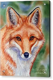 Lovely Lady Acrylic Print by Patricia Pushaw