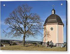Lovely Little Chapel And A Tree Acrylic Print by Matthias Hauser