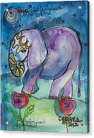 Lovely Little Elephant2 Acrylic Print
