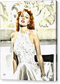 Lovely Rita Acrylic Print by Mo T