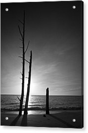 Lovers Key Sunset Black And White One Acrylic Print