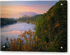 Lovers Leap Sunrise Acrylic Print by Bill Wakeley