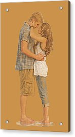 Lovers On The Beach Acrylic Print by Dominique Amendola