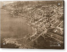 Aerial Of Lovers Point And Pacific Grove California July 10 1906 Acrylic Print