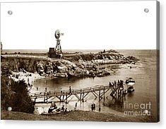 Lovers Point Beach And Old Wooden Pier Pacific Grove August 18 1900 Acrylic Print