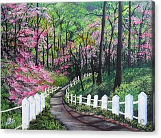 Lovers' Trail Acrylic Print
