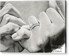 Love's Promise Acrylic Print by Sarah Batalka