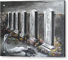 Loves Silent Echoes Acrylic Print by Carla Carson