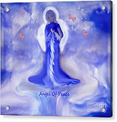 Loving Angel Of Peace Acrylic Print by Sherri  Of Palm Springs