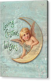 Loving Angel Wishes Acrylic Print by Sarah Vernon