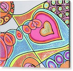 Loving Heart Connection Acrylic Print by Sheree Kennedy