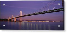 Low Angle View Of A Bridge At Dusk Acrylic Print