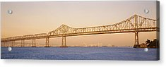Low Angle View Of A Bridge, Bay Bridge Acrylic Print by Panoramic Images
