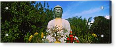 Low Angle View Of A Buddha Statue Acrylic Print