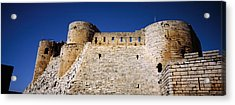 Low Angle View Of A Castle, Crac Des Acrylic Print by Panoramic Images