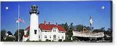 Low Angle View Of A Lighthouse, Chatham Acrylic Print by Panoramic Images