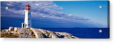Low Angle View Of A Lighthouse, Peggys Acrylic Print by Panoramic Images