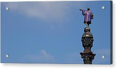 Low Angle View Of A Monument, Columbus Acrylic Print by Panoramic Images