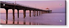 Low Angle View Of A Pier, Manhattan Acrylic Print by Panoramic Images