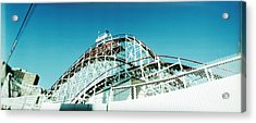 Low Angle View Of A Rollercoaster Acrylic Print by Panoramic Images