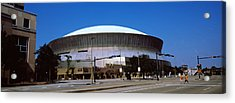 Low Angle View Of A Stadium, Louisiana Acrylic Print by Panoramic Images