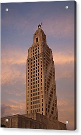 Low Angle View Of A State Capitol Acrylic Print