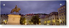 Low Angle View Of A Statue, Castelo De Acrylic Print by Panoramic Images