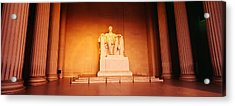 Low Angle View Of A Statue Of Abraham Acrylic Print by Panoramic Images
