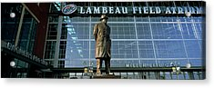 Low Angle View Of A Statue Acrylic Print