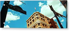 Low Angle View Of Building With Road Acrylic Print by Panoramic Images