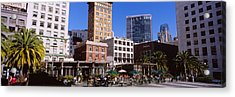 Low Angle View Of Buildings At A Town Acrylic Print