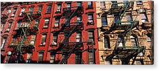 Low Angle View Of Fire Escapes Acrylic Print by Panoramic Images