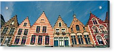 Low Angle View Of Gabled Houses Acrylic Print